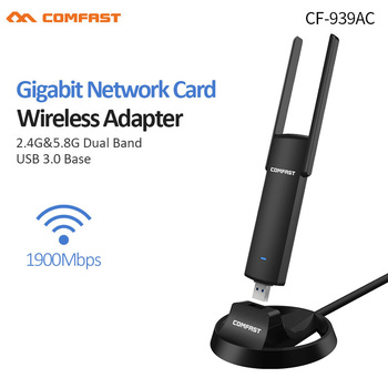 1900Mbps 5Ghz USB3.0 Wifi Adapter Dual Band RTL8814AU External Wifi Antenna Dongle Desktop/Laptop/PC LAN Adapter External cable