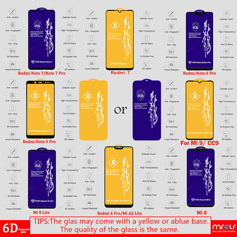 Image 5 - 6D Glass for Xiaomi Redmi Note 7 6 Pro 5 4X Screen Protector on Redmi 7A Note 7 5 6 Pro Tempered Protective Glass for Xiaomi Mi 9 SE 8 A2 Lite A3 CC9 CC9E Mi 9 Safety Glass Redmi Note 7 5 6 Pro 4X 7A Screen Protection-in Phone Screen Protectors from Cellphones & Telecommunications