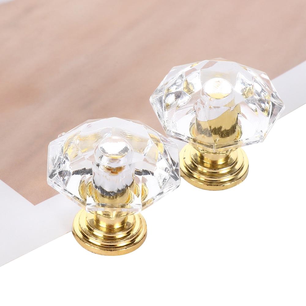 Bouton de porte en forme de diamant, 10 pièces, boutons en cristal en acrylique, poignée de tirage pour placard, accessoires pour meubles de maison