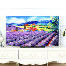 TV Covers 32 Inch Cute Cartoon Printing dust-proof TV Cover Decorative Hood Curtain Decor Designs Desktop Computer Cover(China)