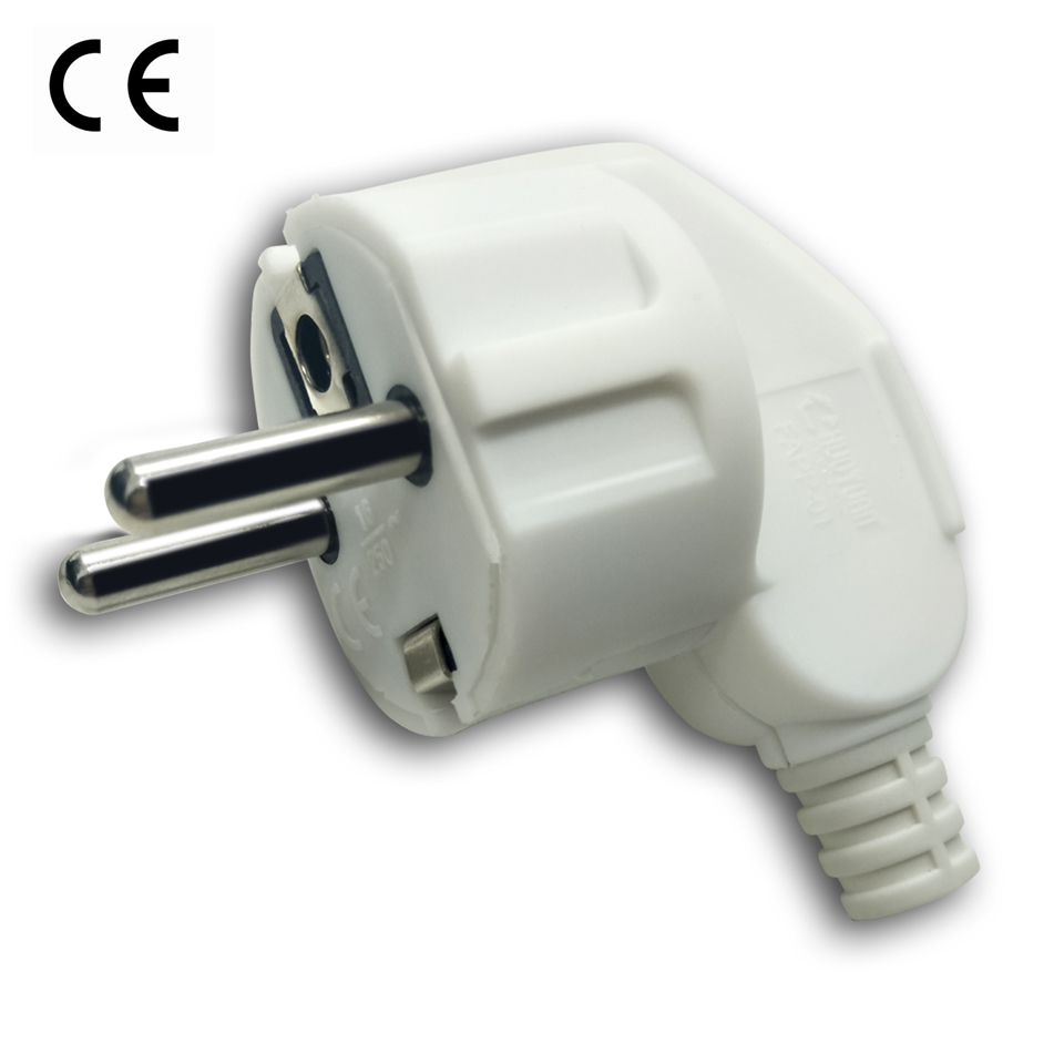 Eu AC Power Schuko Adapter Rewireable Europe Electrica Plug Male Sockets Outlets Adaptor Adapter Extension Cord Detachable Plug