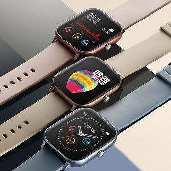 SENBONO IP67 Full screen touch Smart Watch  Men Women Sport Clock Heart Rate Monitor Smartwatch Fitness tracker Wristband 2