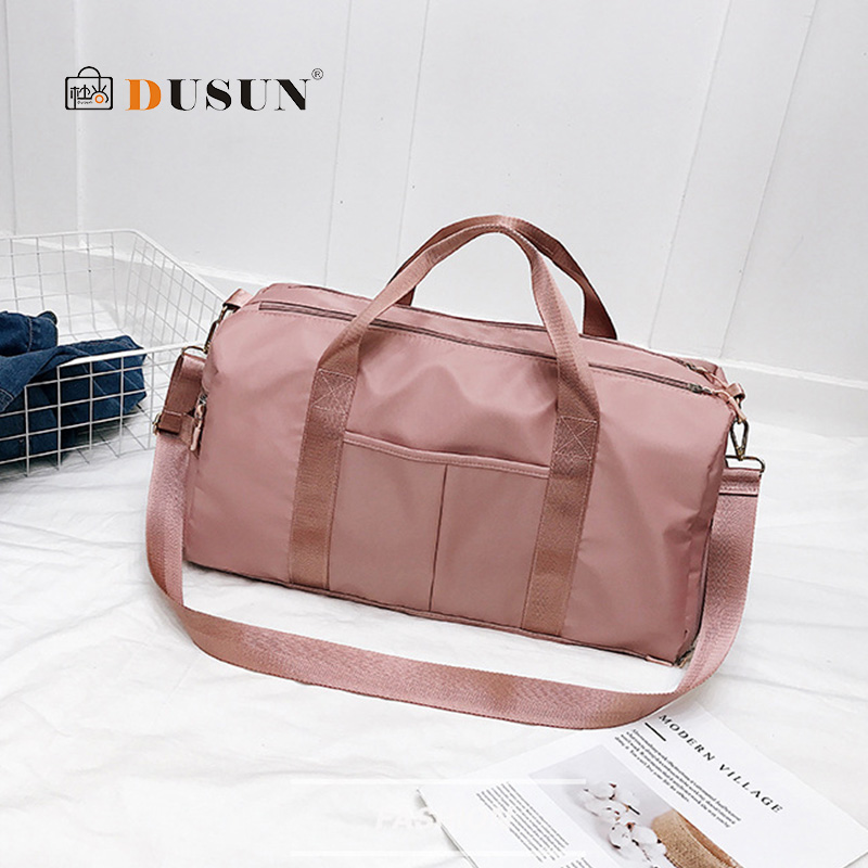 Outdoor Waterproof Nylon Sports Gym Bags Men Women Training Fitness Travel Handbag Yoga Mat Sport Bag Shoes Compartment 2019 New