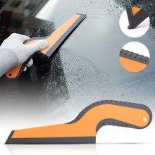 FOSHIO – raclette en caoutchouc souple, Film en Fiber de carbone, outil de nettoyage de voiture, brosse, teinte des vitres