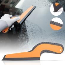 Uchwyt FOSHIO miękki wałek gumowy folia z włókna węglowego winylowa naklejka na samochód narzędzie szkło czyszczenie samochodu narzędzie szczotka folia zaciemniająca okna czysty skrobak
