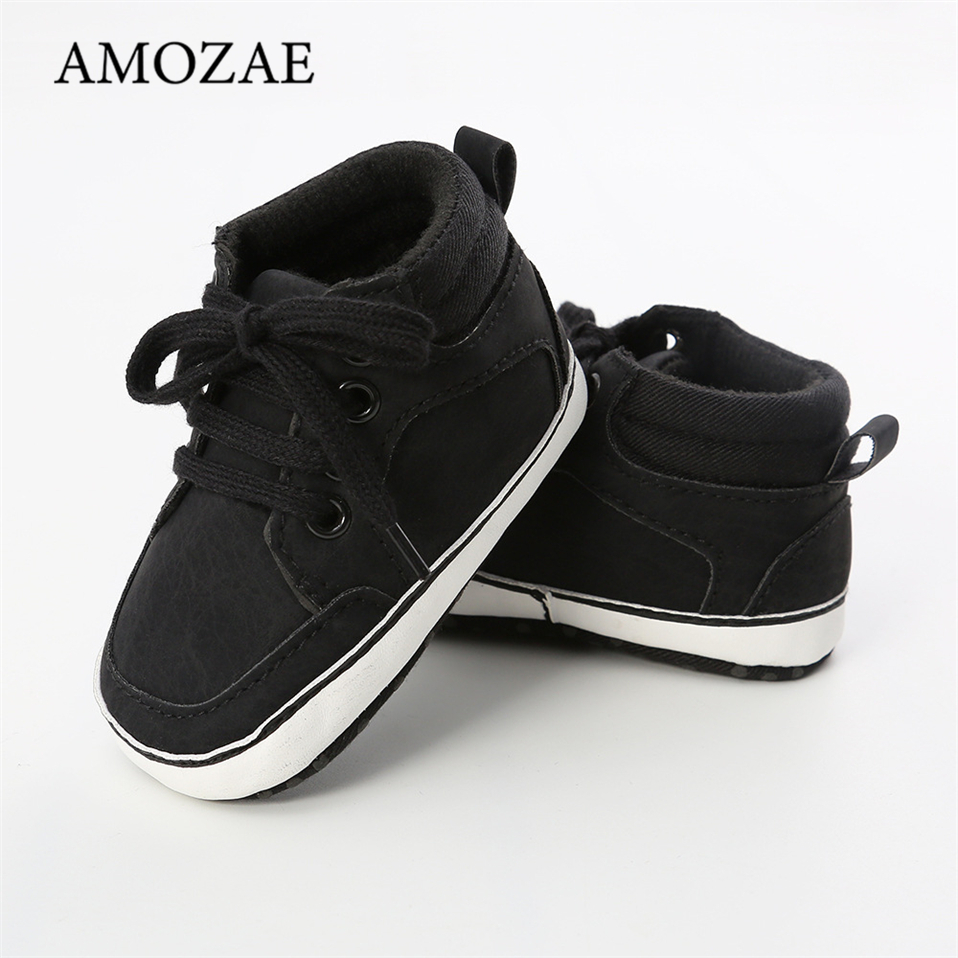2020 New Baby Boys Spring and Autumn Models 0-1 Year Old Male Baby Shoes Soft Sole Casual Shoes PU Lace-up Toddler Shoes