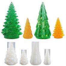 3d Рождественская елка силиконовая смола форма СВЕТОДИОДНЫЙ