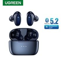 Ugreen-Bluetooth 5.2ワイヤレスヘッドセット,qualcommチップを搭載したデバイス,x5およびtws,aptx,4つのマイク,cctv,8.0 tech