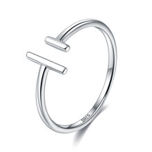 ZEMIOR Minimalist Rings For Women Authentic 925 Sterling Silver Open Adjustable Finger Rings Handmade Female Anniversary Jewelry