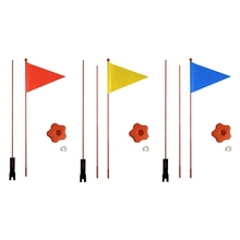 Children Bicycle Flag Safety  bicycle pennant Flag For Boys And Girls Cycling 77HD