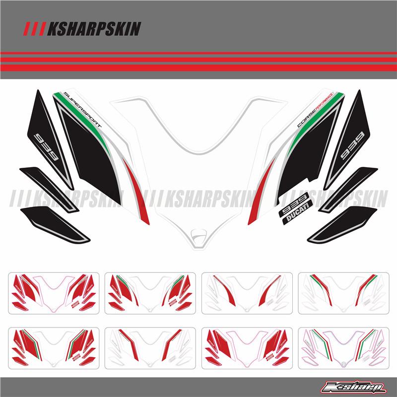 Front Fairing Motor Number Board 3D Gel Protector For Ducati Supersport 939 16 17