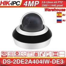 Hikvision câmera ip ptz DS 2DE2A404IW DE3 4mp 4x zoom rede poe h.265 ik10 roi wdr dnr dome cctv câmera ptz