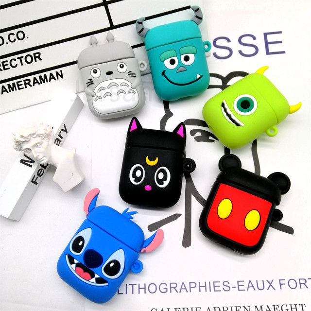 Cute Soft Wireless Earphone Case For Apple AirPods 2 Silicone Charging Headphones Case for Airpods Protective Cover accessories 5
