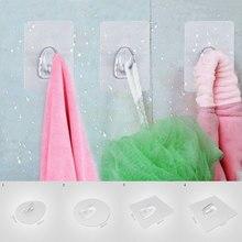 Hangers-Hooks Bathroom-Accessories Storage Hanging Self-Adhesive Door-Wall Kitchen Strong