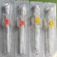 Cateter veterinário iv cannula iv 50 peças  com válvula de injeção  cateter intravenoso tipo de porta de injeção 14g 16g 18g 20g 22g 24g