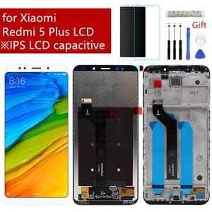 Image 1 - Voor Xiaomi Redmi 5 Plus Lcd Touch Screen Digitizer Vergadering Met Frame Vervanging Reparatie Onderdelen Met Gift