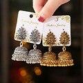 Boho афганских в этническом стиле, свисающие серьги для женщин, серьги Pendient золото Gyspy серебро Цвет колокол пикантные женские серьги в индийск...