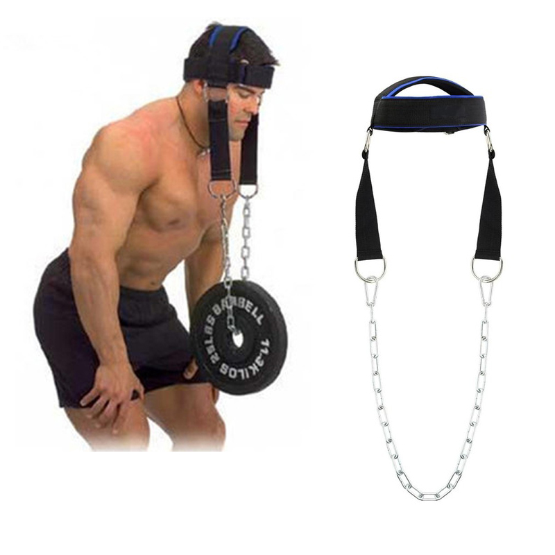 Head Neck Training Fitness Gym Exercise Equipment Workout Training Weight Bearing Cap Shoulder Muscle Weight Trainer With Chain