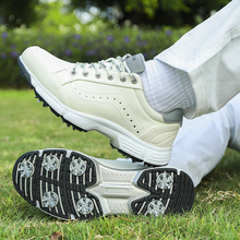 Golf-Shoes Spikes Sport-Sneakers Big-Size Mens Brand New Professional for Classic Black