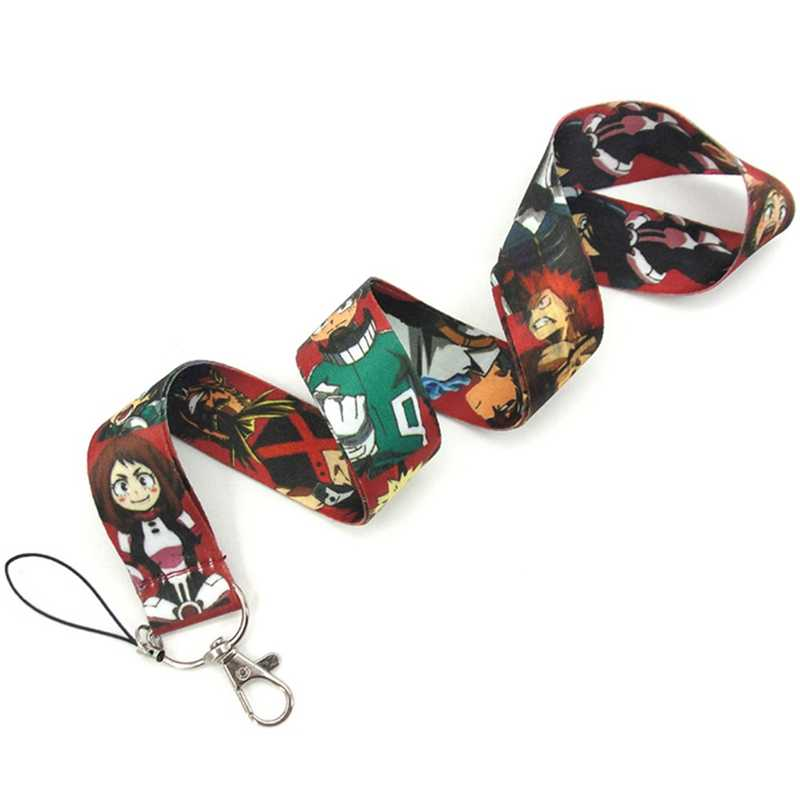 Anime Cartoon Neck Strap Lanyard Mijn Hero Mobiele Telefoon Touw Lange Badge Camera Opknoping Touw ID Badge Houder Sleutelhanger Lanyards