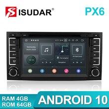 Isudar PX6 2 Din Android 10 Auto Radio Für VW/Volkswagen/Touareg Canbus Auto Multimedia Video Player GPS USB DVR Kamera RAM 4GB