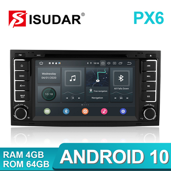 Isudar PX6 2 Din Android 10 Car Radio For VW/Volkswagen/Touareg Canbus Auto Multimedia Video Player GPS USB DVR Camera RAM 4GB