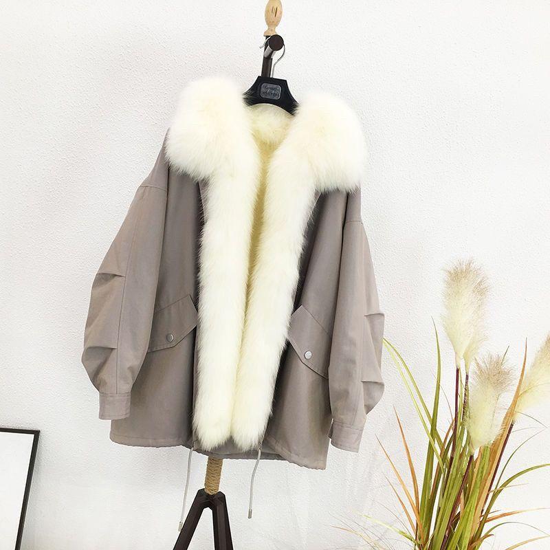 long Faux Fox Fur coat