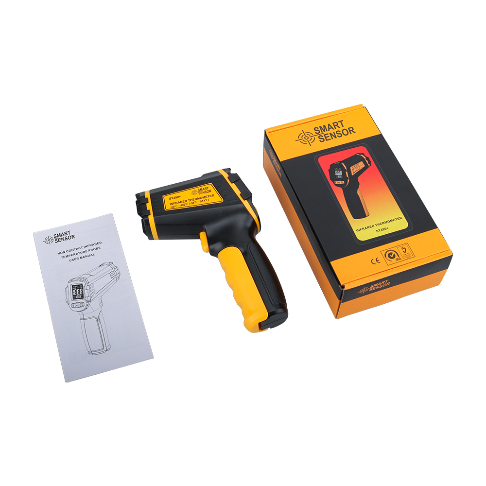 Non Contact Infrared Thermometer Gun to Measure Surface Temperature of Hazardous Object 5