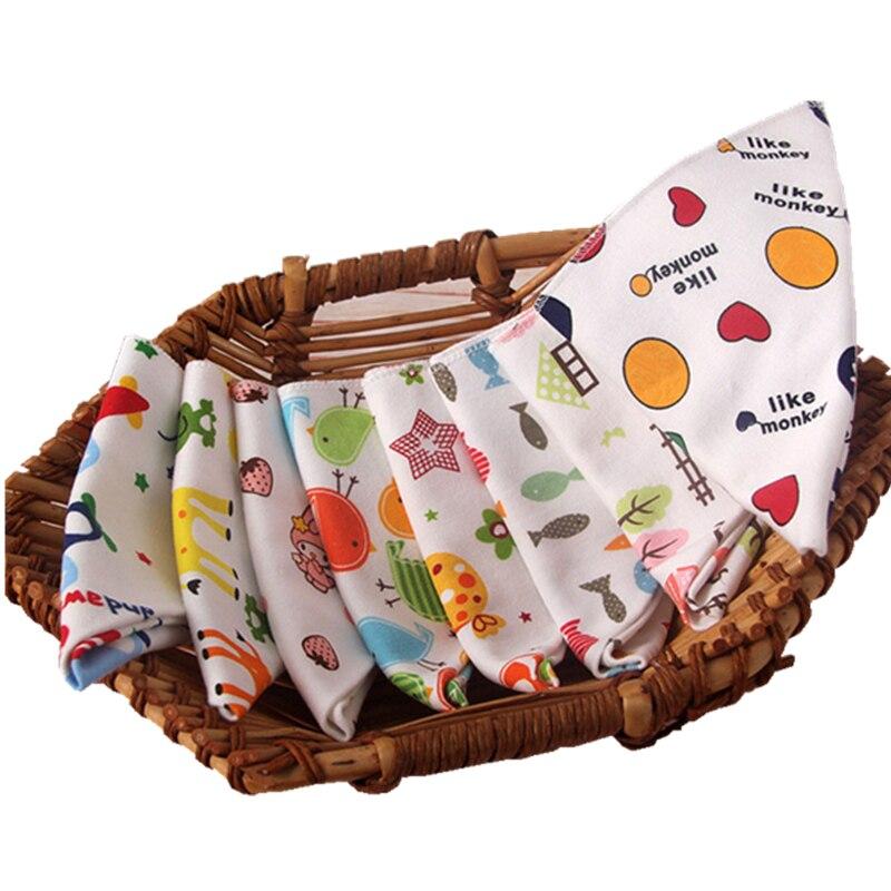 Детские треугольные нагрудники из хлопка с мультяшным рисунком, детские нагрудники, бандана, нагрудники для младенцев, поглощающие ткань