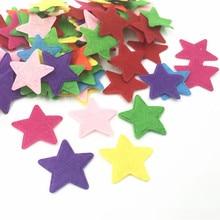 DIY 200 шт смешанные цвета в форме звезды войлочные Аппликации, ремесло открыток украшения 25 мм