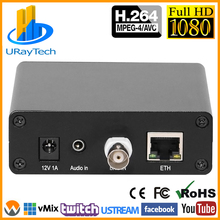 MPEG4 H.264 CVBS RCA AV Video Encoder BNC To IP Streaming Encoder Trans