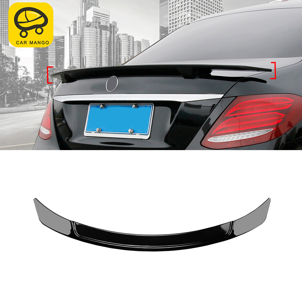 CarManGo Car Rear <font><b>Spoiler</b></font> Tail Wing Trunk Door Trim Diffuser Cover Sticker for Mercedes-Benz E-Class W213 2016-2020 Coupe <font><b>C238</b></font> image