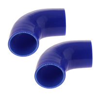 2pcs 90 Degree 3inch/76mm Silicone Hose Elbow Intercooler Coupler BLUE
