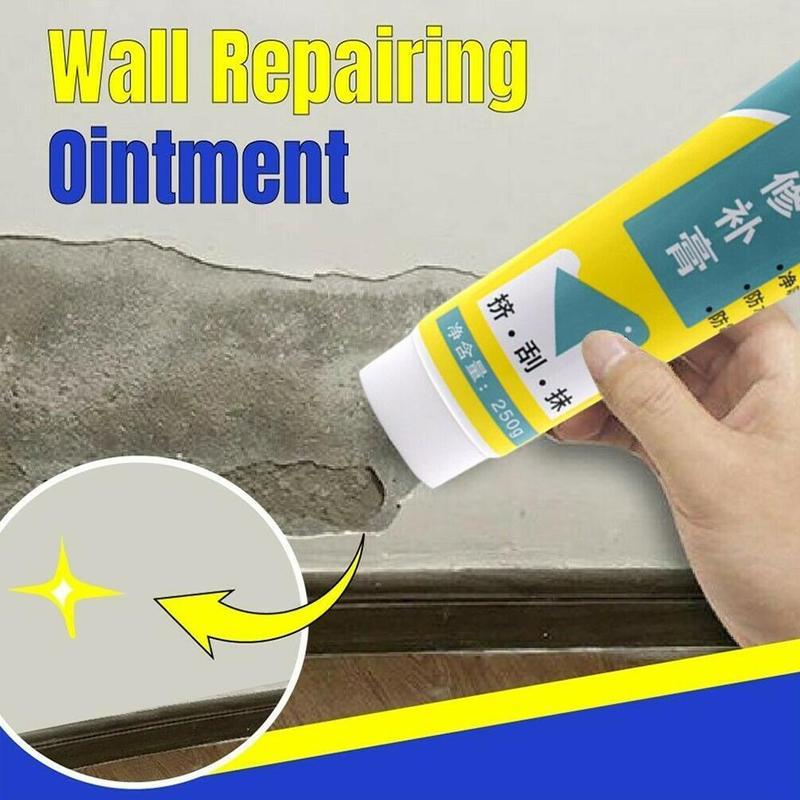 Wall Repair Cream White Latex Paint Waterproof Wall Cracks Repair Cream Wall Repairing Ointment Quick Dry Wall Cleaning Tool