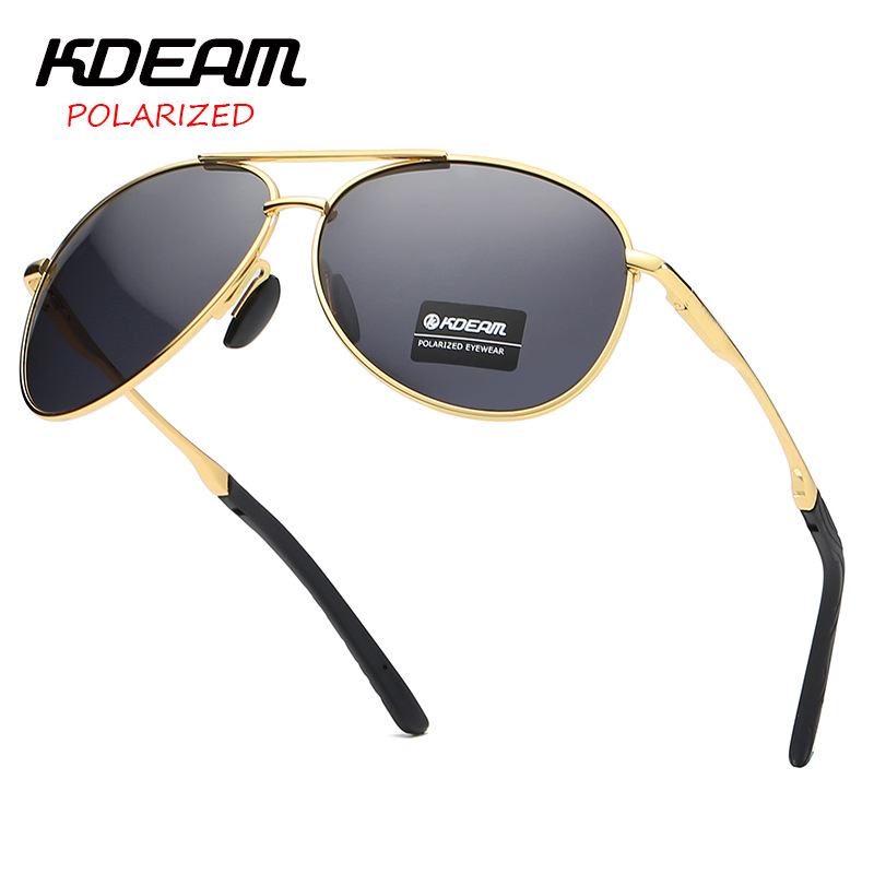 KDEAM Top Brand Pilot Sunglasses Women Driving Classic Vintage High Quality Metal 2019 New UV400