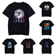 Stranger Things T-shirts Cool Pattern Print Short Sleeve Teens Summer Casual Cotton Tops Tees Harajuku Shirts