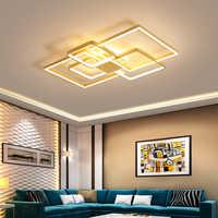 Plafond moderne à LEDs lumières pour salon chambre Luminaire plafonnier or fini Avize lustre plafonnier pour maison chambre