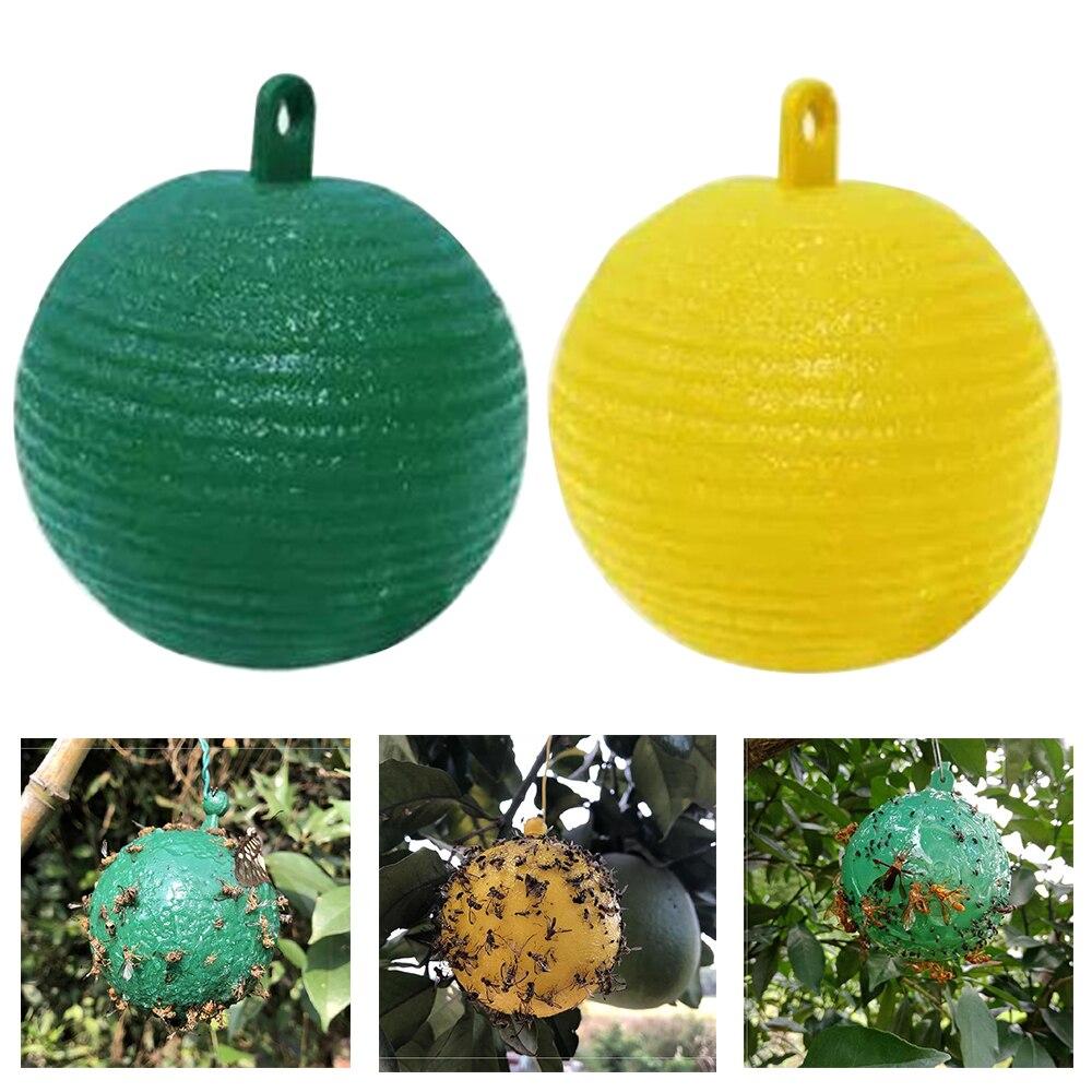Açık bahçe tek kullanımlık eşek arısı meyve sinek yakalayıcı topu 1 adet asılı sinek kapanı topu meyve sinek yakalayıcı artefakt tuzak böcek tuzak