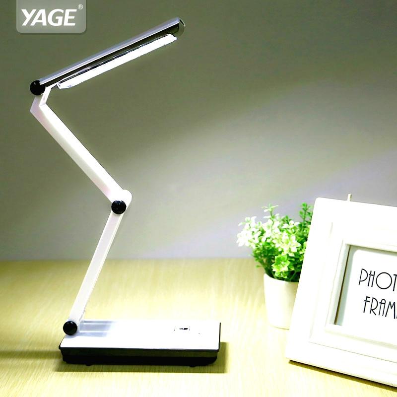 2018 YAGE 3979 lampe de Table veilleuse LED bureau livres de lecture Usb pliable 3-couche corps Revolvable titulaire 2-mode EU/USA/UK Plug