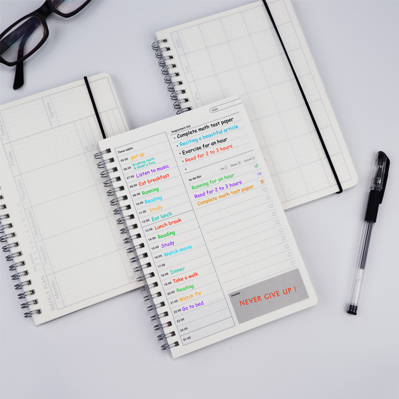 2020 <font><b>Notebooks</b></font> Agenda Daily Weekly Monthly Plan <font><b>Spiral</b></font> Organizer <font><b>A5</b></font> Note Books Monthly Transparent Schedule image