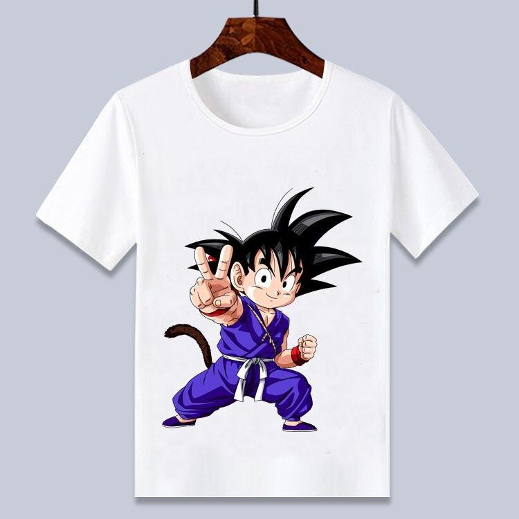 Милая Детская забавная футболка с рисунком Гоку для мальчиков, летняя белая футболка для детей от 24 мес. до 8 лет, 2020
