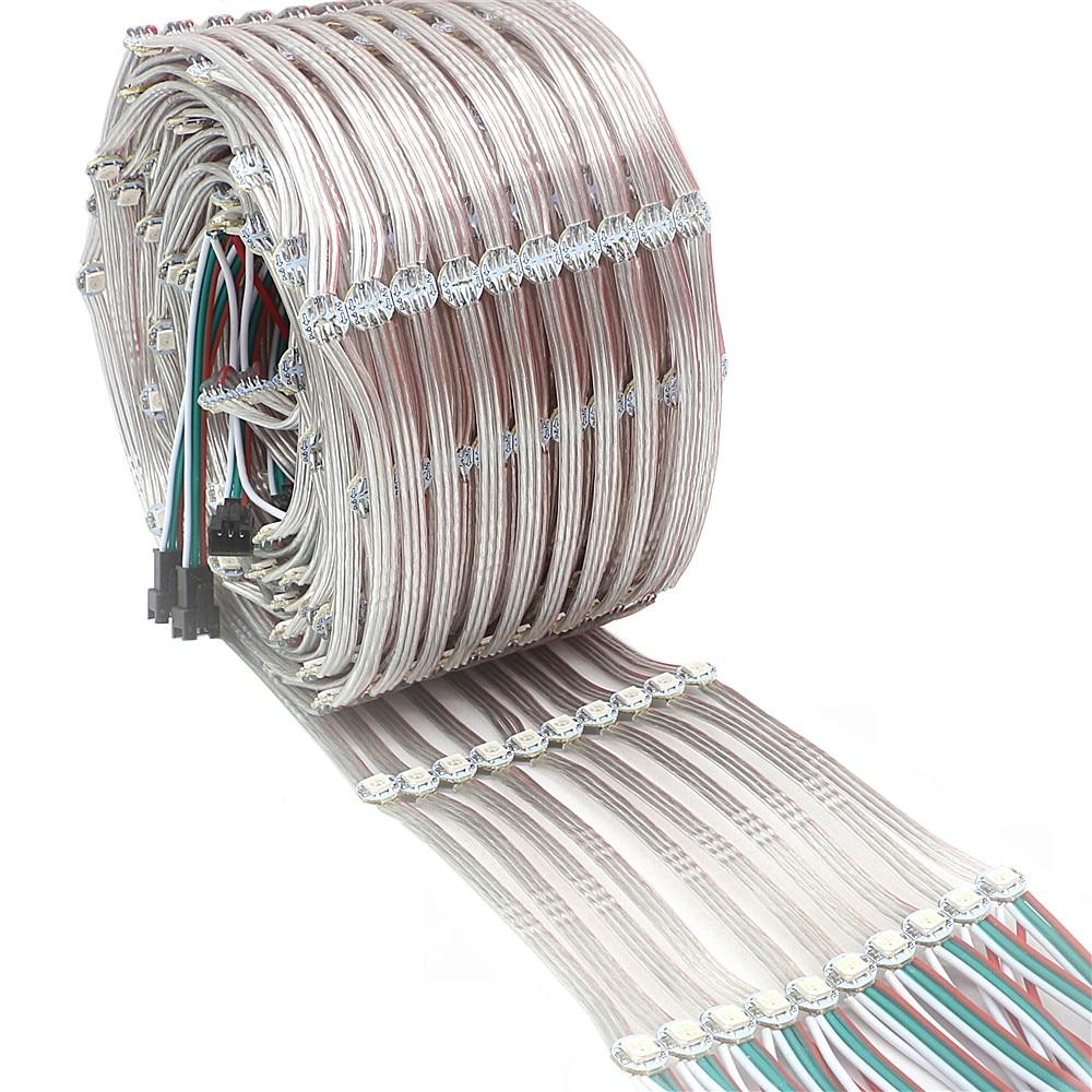 Предварительно припаянная светодиодная радиаторная плата WS2812B 5050 RGB Встроенная WS2811 IC DC5V индивидуально Адресуемая светодиодная модульная г...