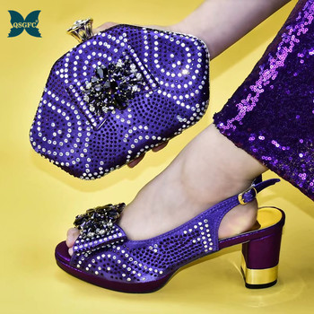 Pleasant Italian Design Italian Shoes With Matching Bags Most Recent African Rhinestone Women's Party Shoes High heel