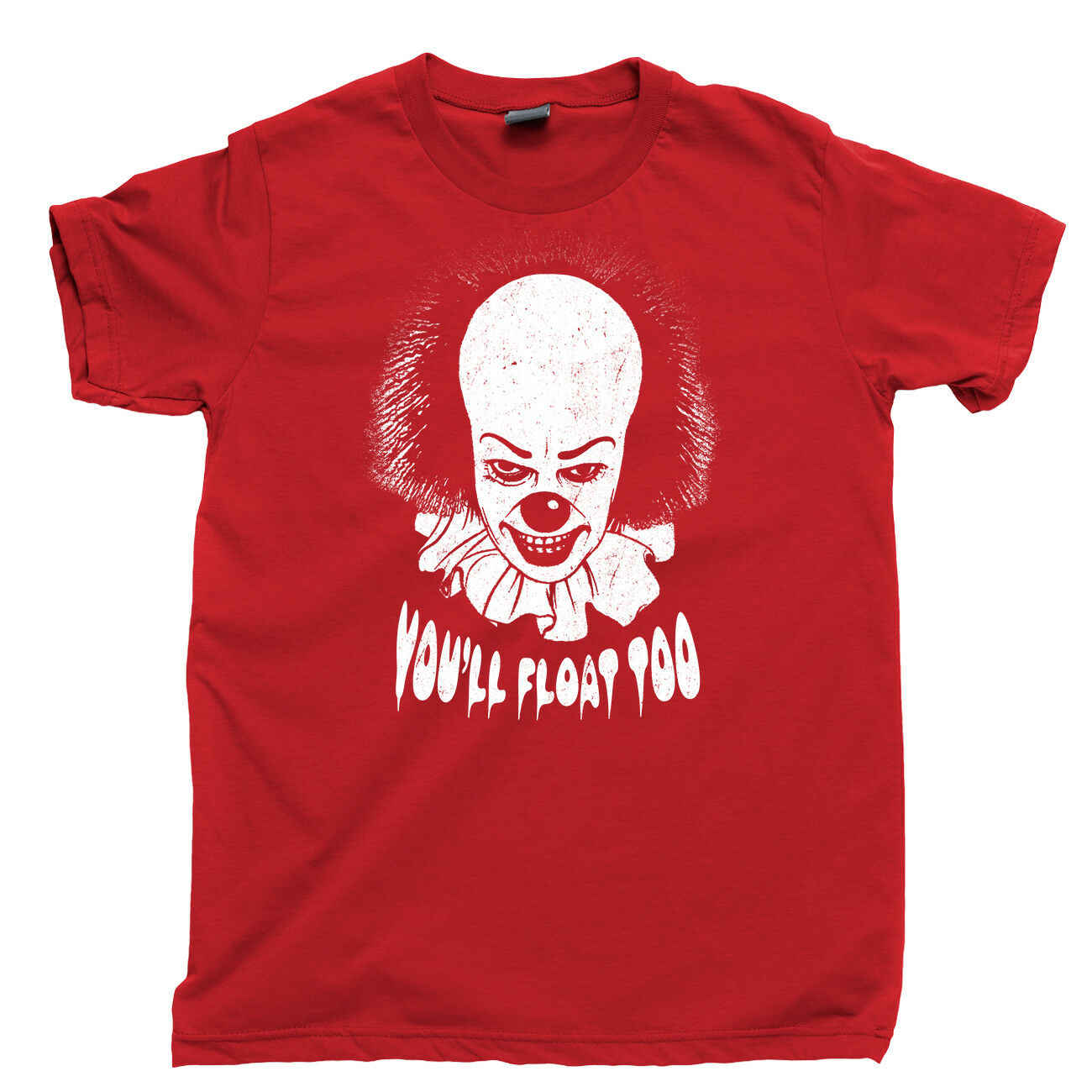 SI T Camicia PENNYWISE Pagliaccio Assassino Chud Stephen King Derry Maine Perdenti Club Tee