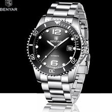 BENYAR 2019 New Mens Mechanical Watches Automatic Waterproof Watch Men Sport Military Business Reloj Hombre