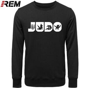 Image 2 - Sweat shirt, col ras du cou graphique, en coton imprimé, vêtement de Judo REM, Arts martiaux, cadeau pour hommes