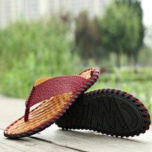 Новые мужские вьетнамки; Красные Модные уличные тапочки; Удобные