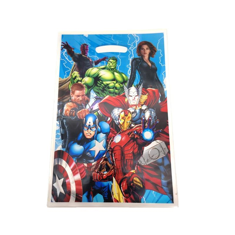 The Avengers Theme Loot Bags Children Favors Superhero Drawstring Bag Kids Happy Birthday Party Decor Supplies Candy Gifts Bag