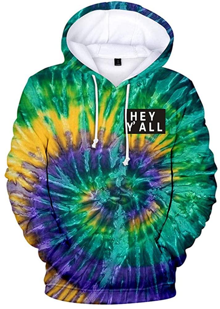 2020 Addison Rae: Hey Y'all Tie Dye 3D Hoodie Men/Women Casual Fashion Long Sleeve Hoodies Sweatshirts Tops Outwear Tracksuit 5