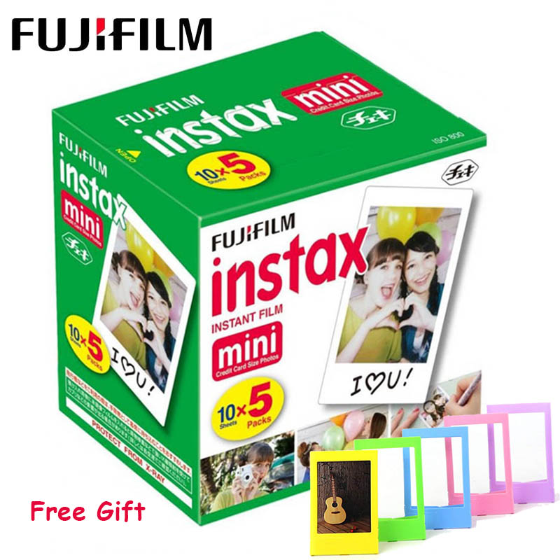 Papel Fotográfico Fujifilm Instax Mini Film 3 Polegada Borda Branca para FUJI Instax Polaroid Mini LiPlay Mini 9 8 7s 25 70 90 Câmera Instantânea